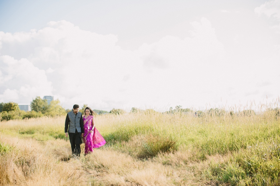 Vancouver Indian Engagement Session in Field