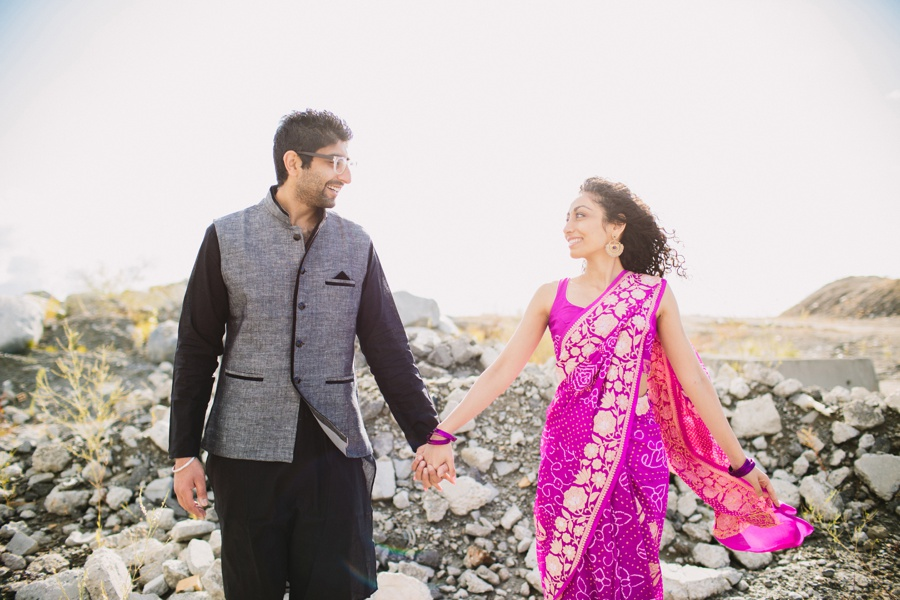 Indian Engagement Session Holding Hands