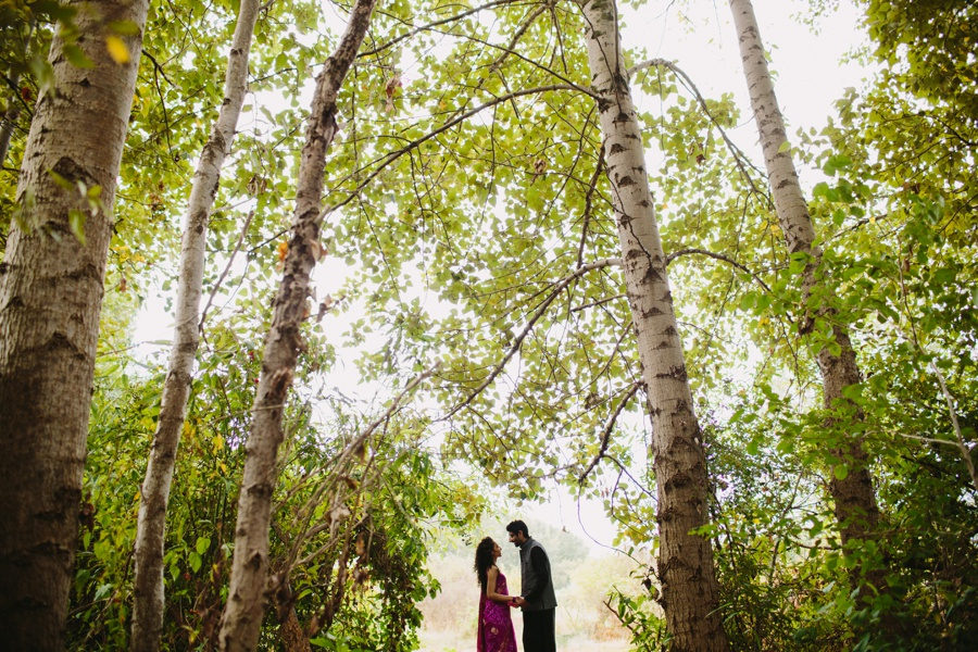 Indian Couple in Traditional Outfits Richmond Forest