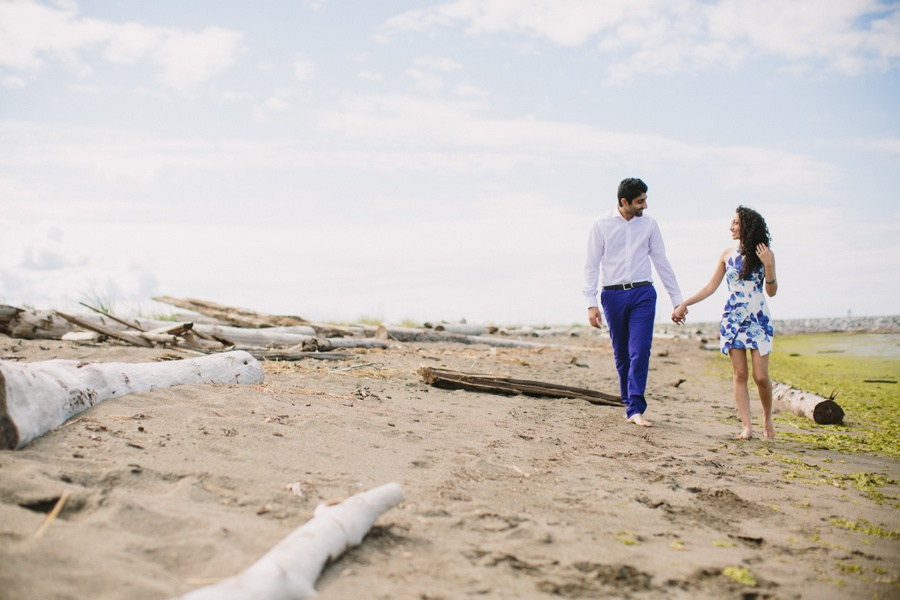 Iona Beach Engagement Photo