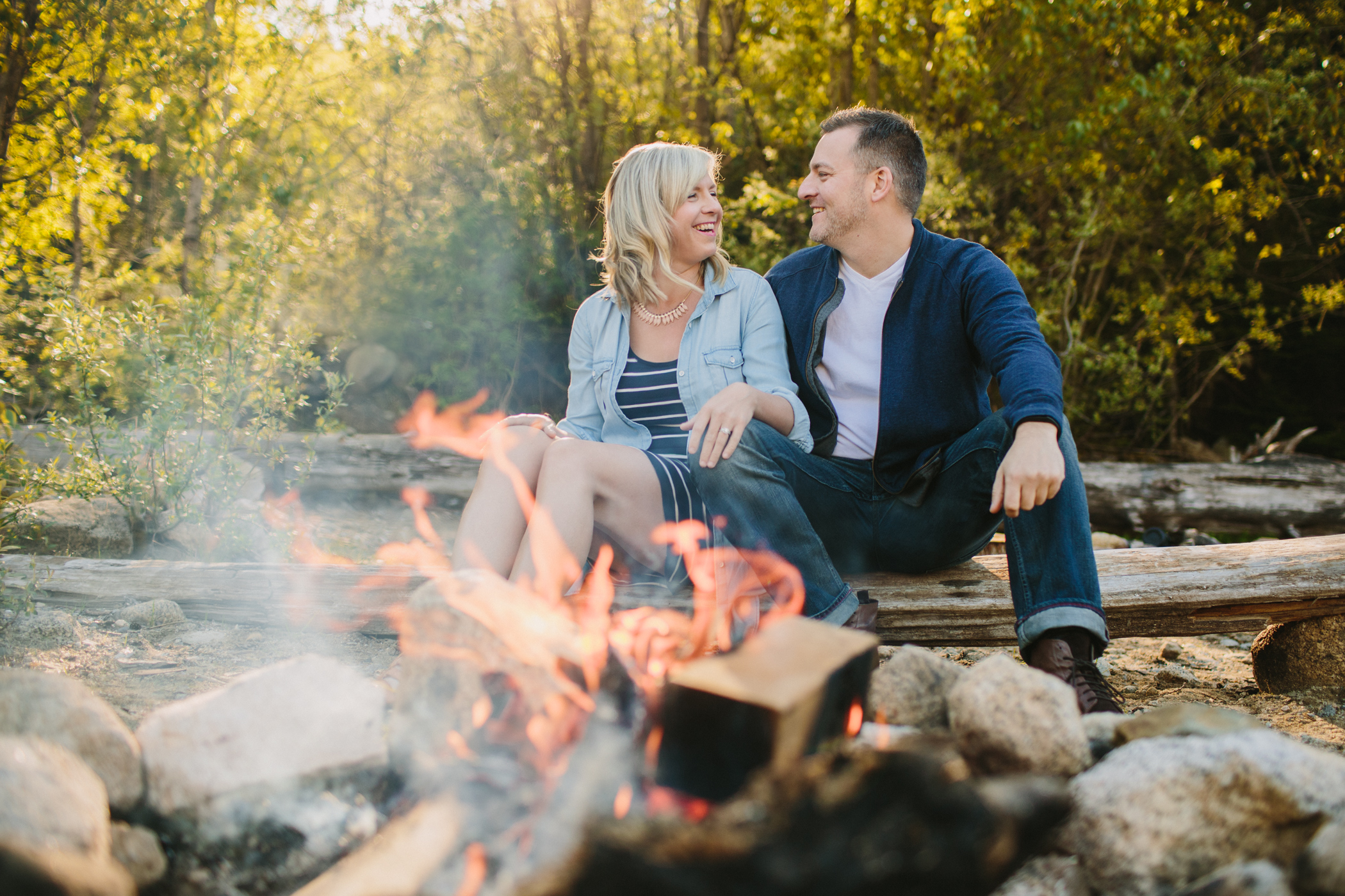 Campfire Couple's Session