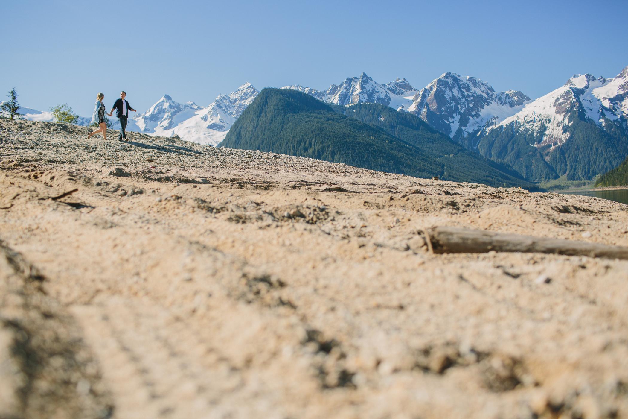Couple Walking at Jones Lake BC