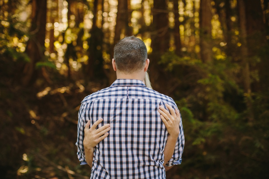 Hugging in BC forest