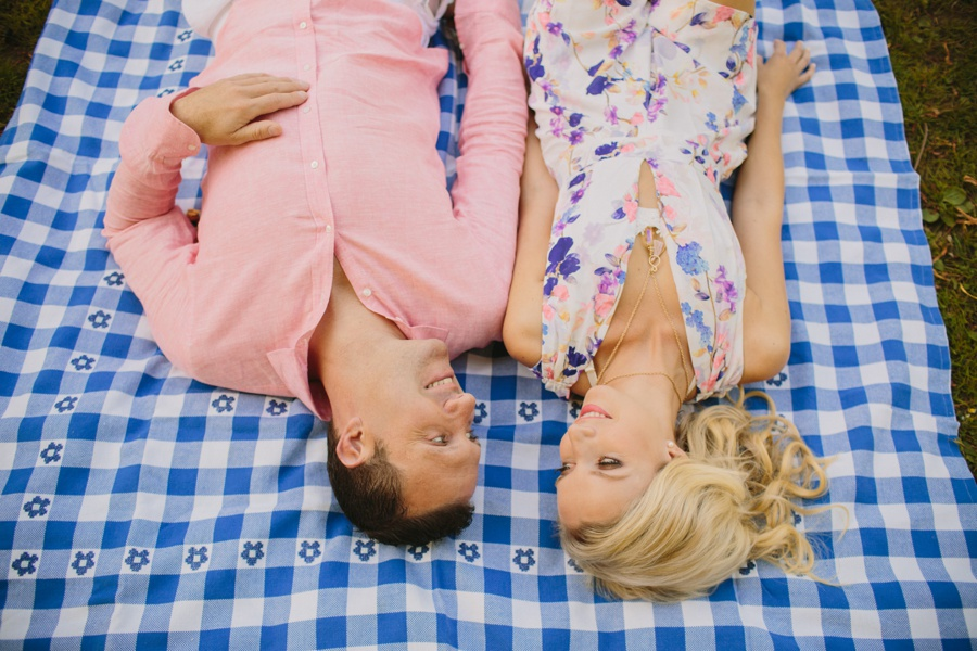 Picnic Blanket Engagement Session