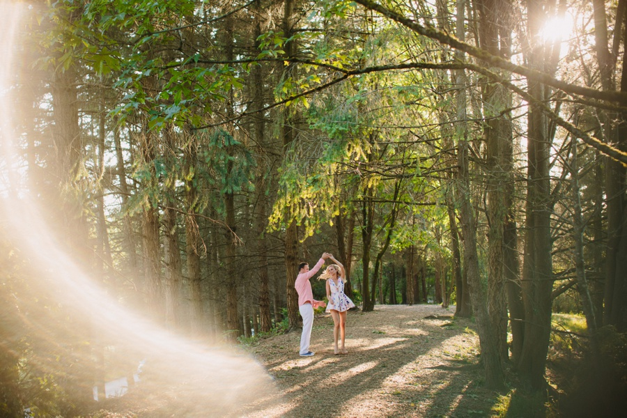 Couple in Forest with Flare
