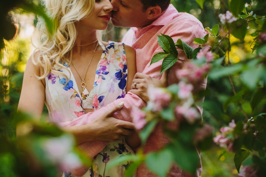 Couples Session in Flowers
