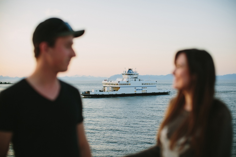 Couple with BC Ferry in Background