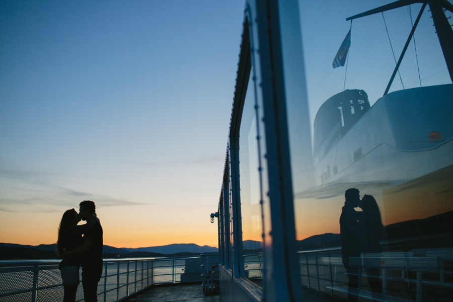Sunset Portrait on BC Ferry