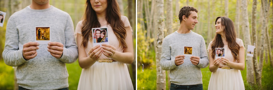Photos Hanging from the Birch Trees