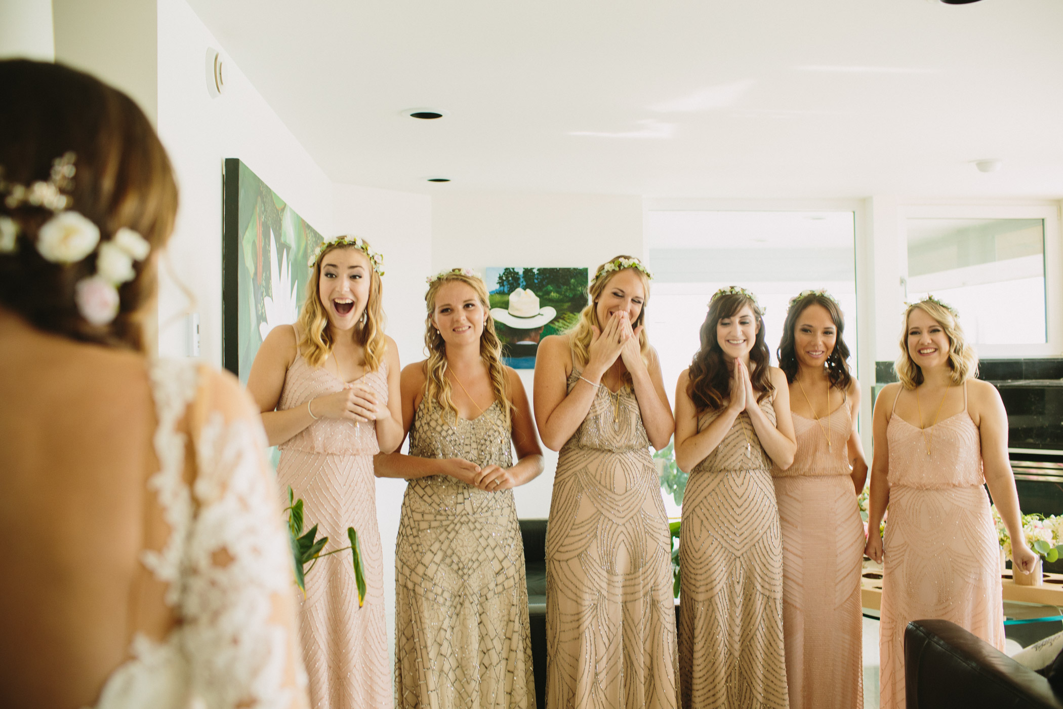 Vancouver Wedding Bridesmaids First Look