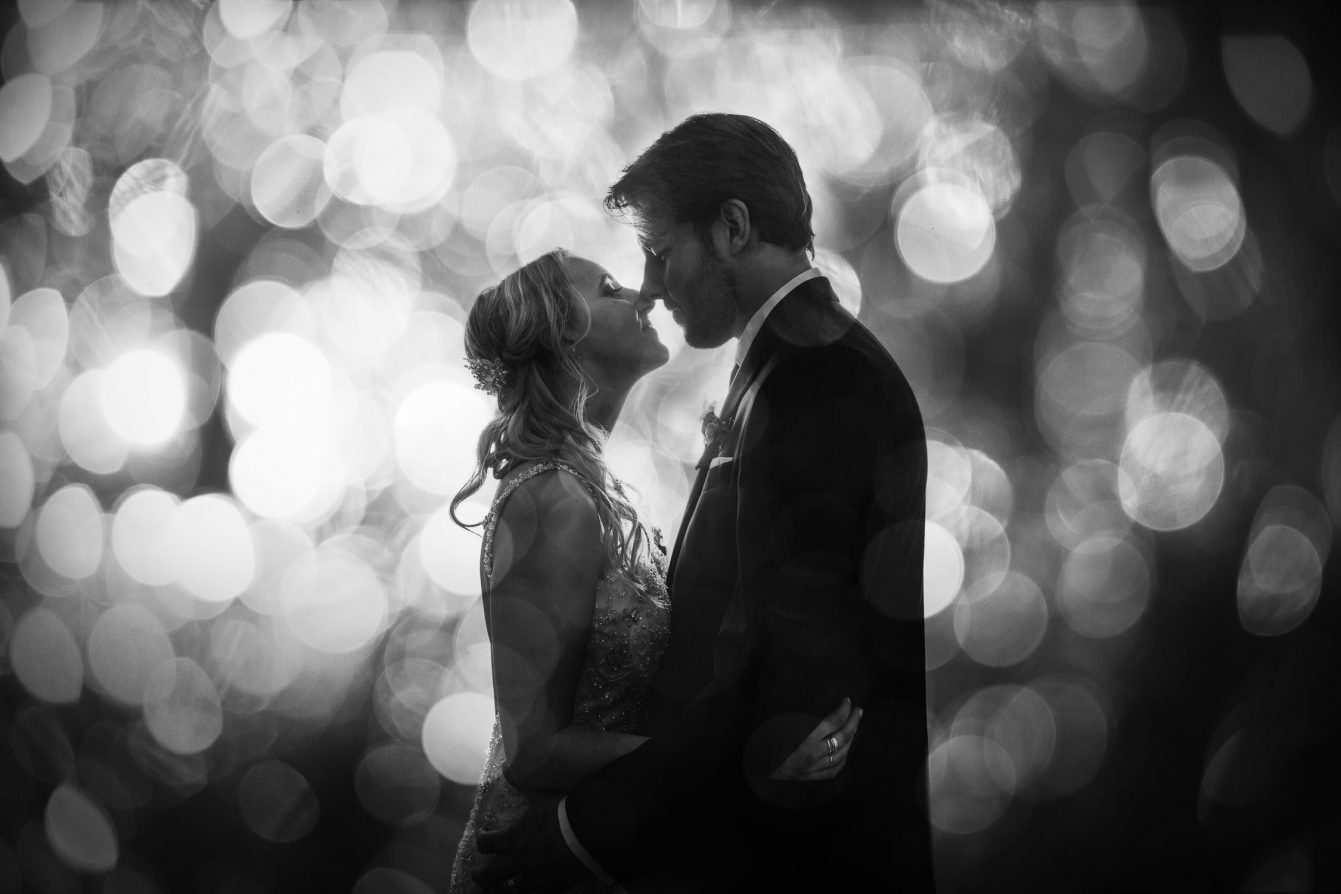 Creative Bride and Groom Portrait at The Vancouver Club