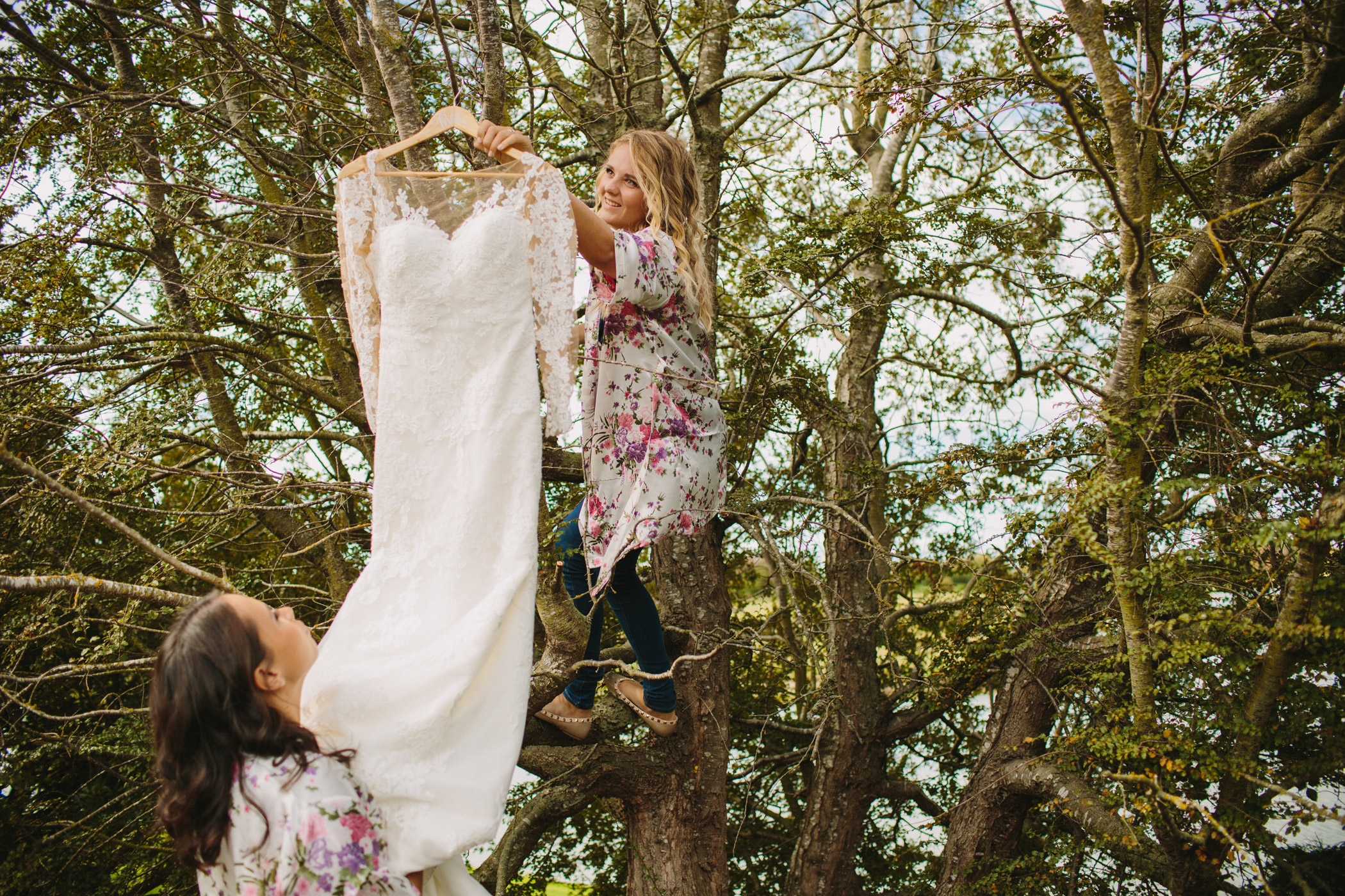 Vancouver Bridesmaids hanging dress