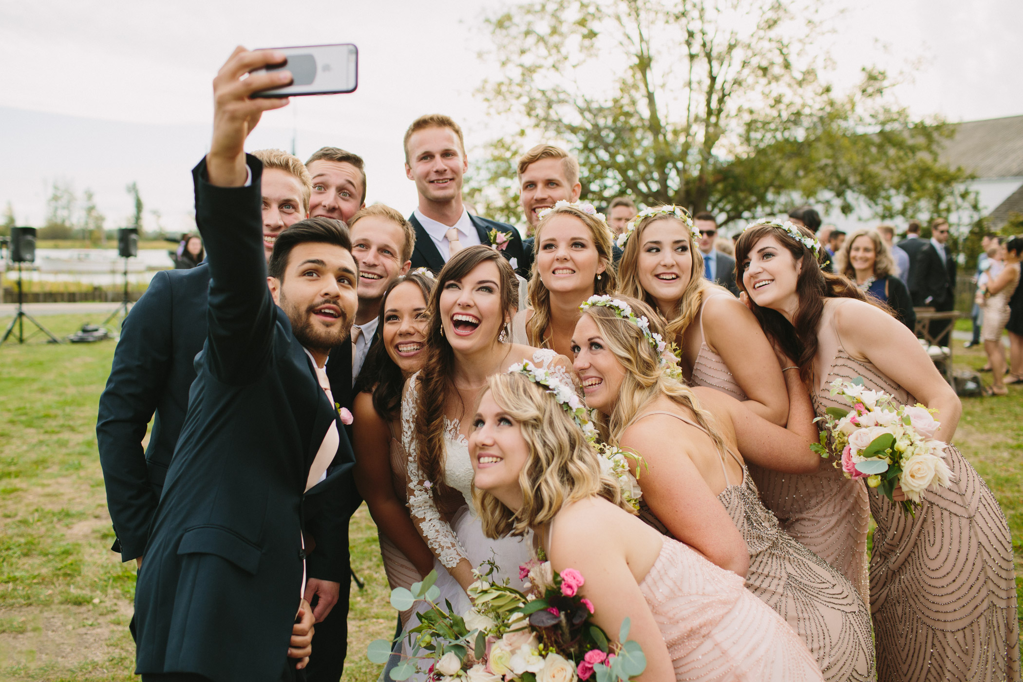 Steveston Wedding Party Selfie