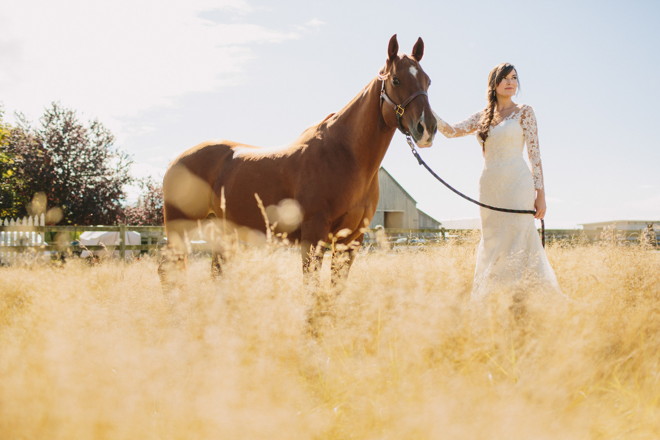 Langley Bridal Portrait with Horse