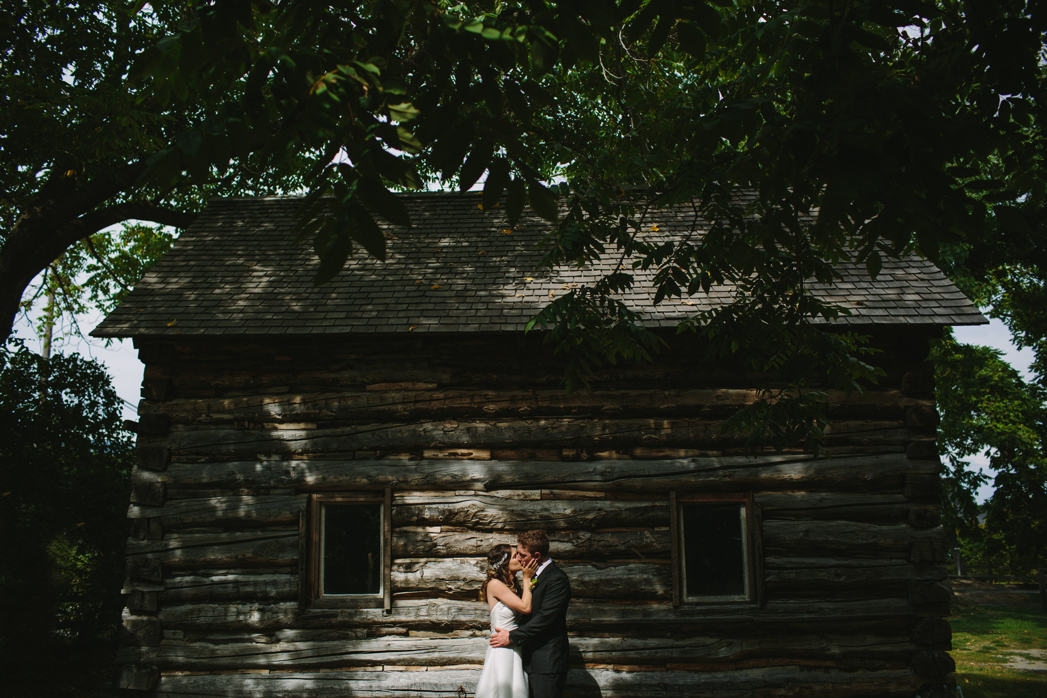 Gellatly Nut Farm Bride and Groom Portrait