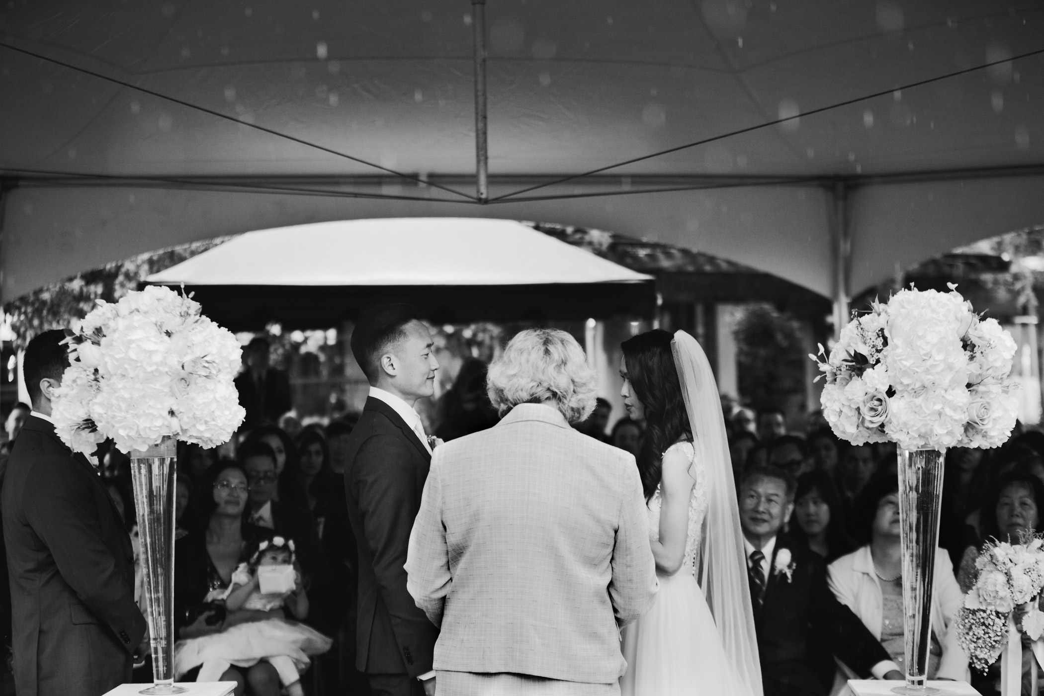 Vancouver Rainy Wedding Ceremony