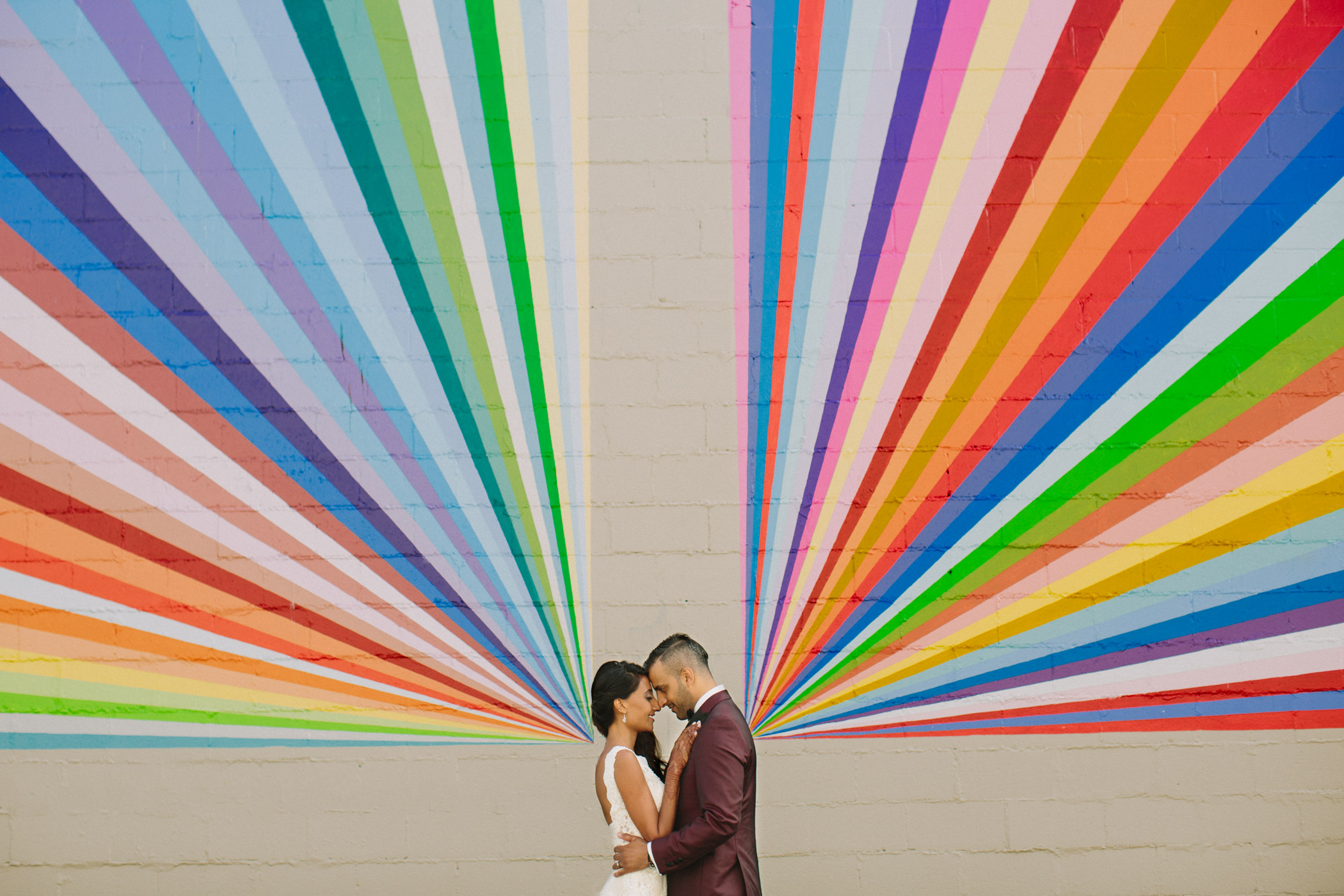 Vancouver Bride and Groom Mural Portrait