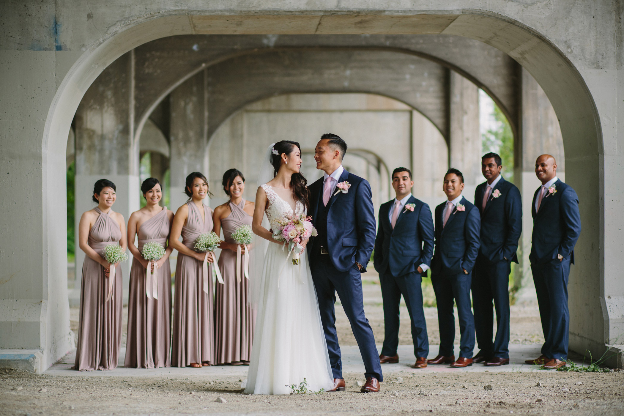 Granville Street Bridge Wedding Party
