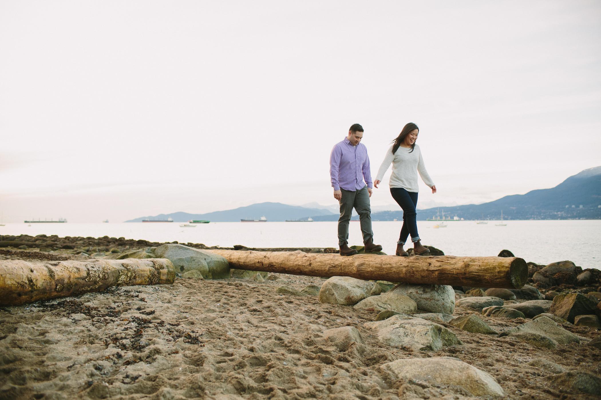 Kitsilano Beach Engagement Photography