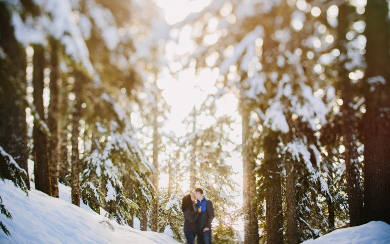 Snow Shoe Engagement Session on Grouse Mountain