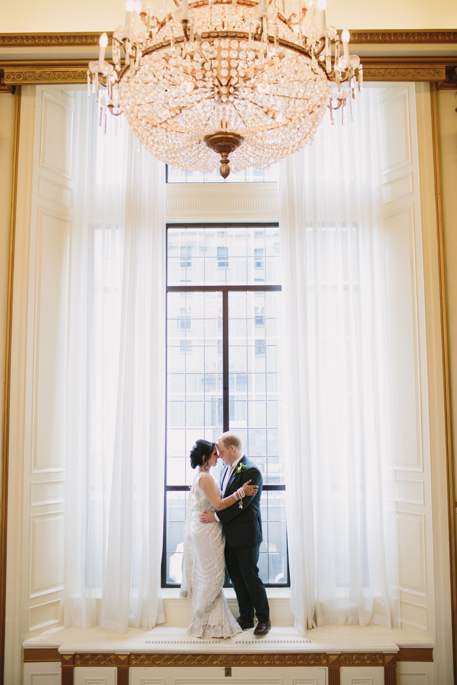Fairmont Hotel Vancouver Bride and Groom