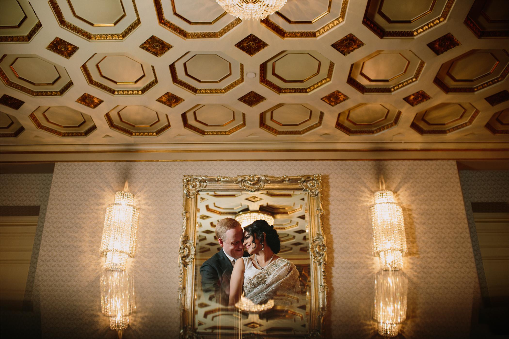 Fairmont Hotel Vancouver Bride and Groom Portrait