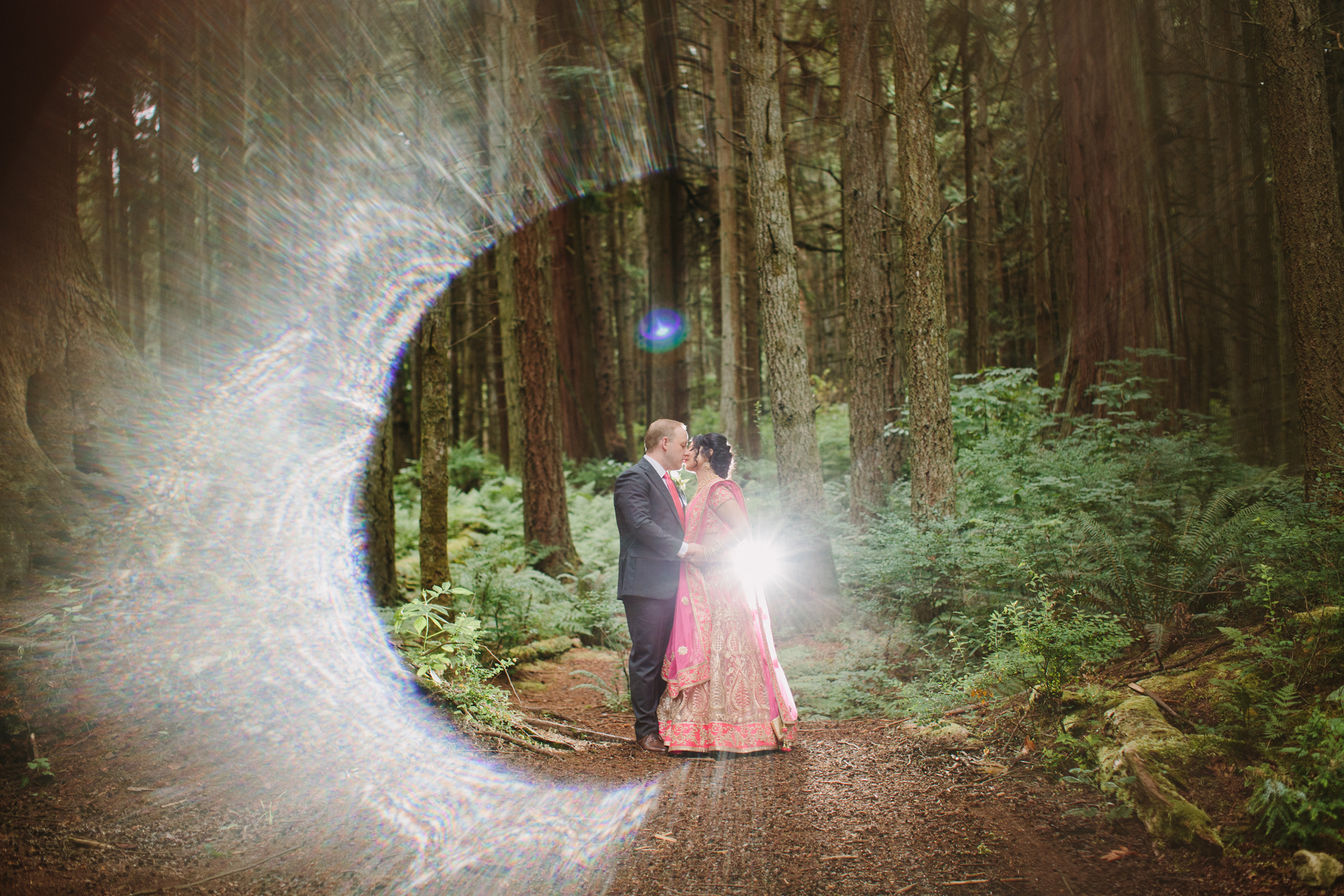 Stanley Park Creative Bride and Groom portrait