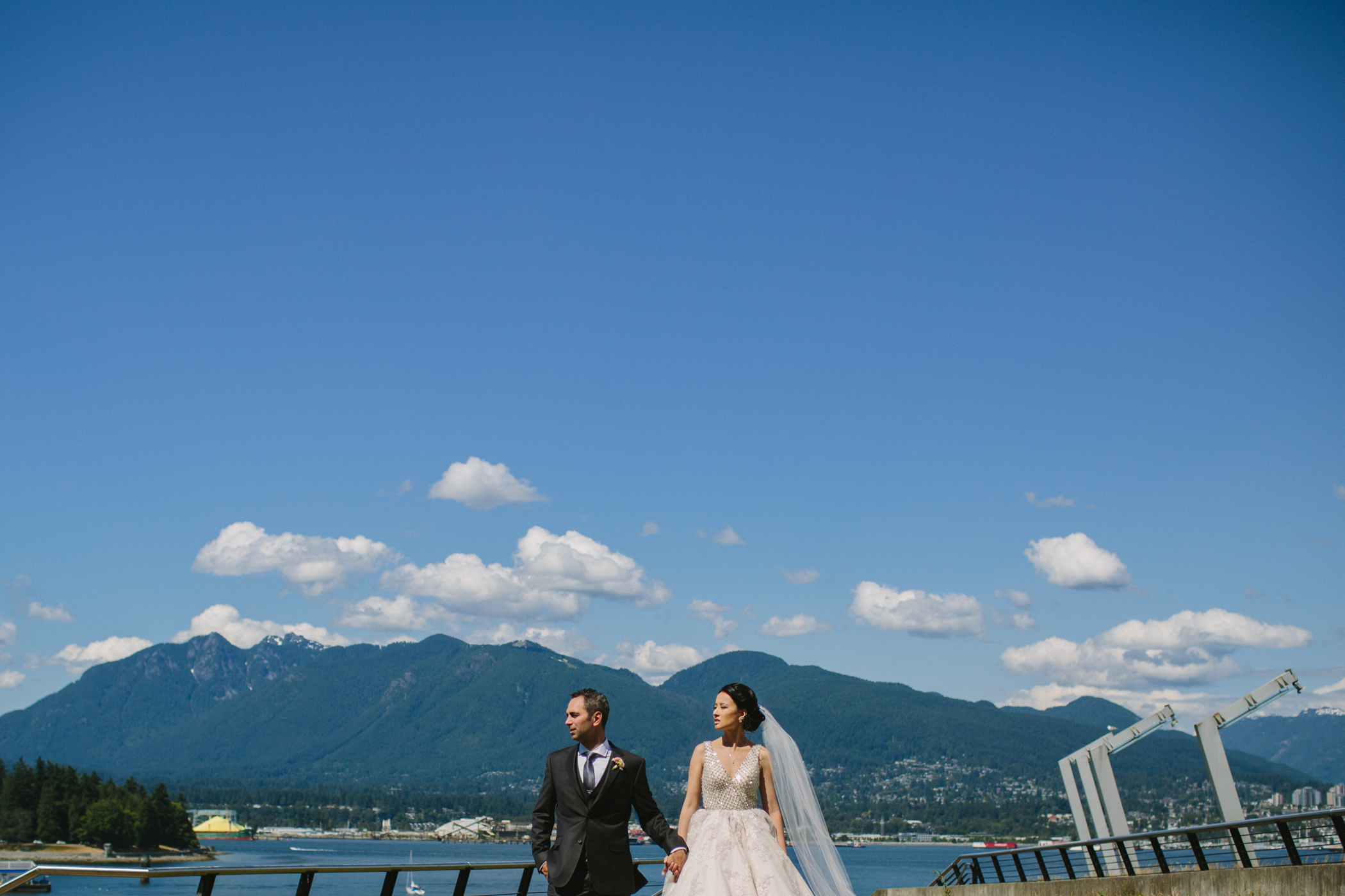 Vancouver Coast Mountains with Bride and Groom
