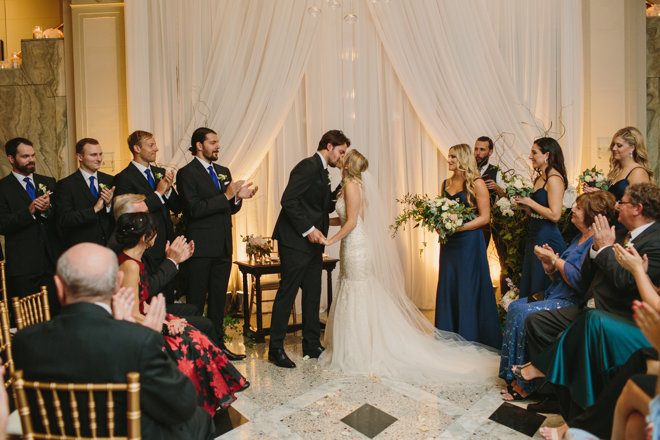 First Kiss Lobby Ceremony at the Vancouver Club