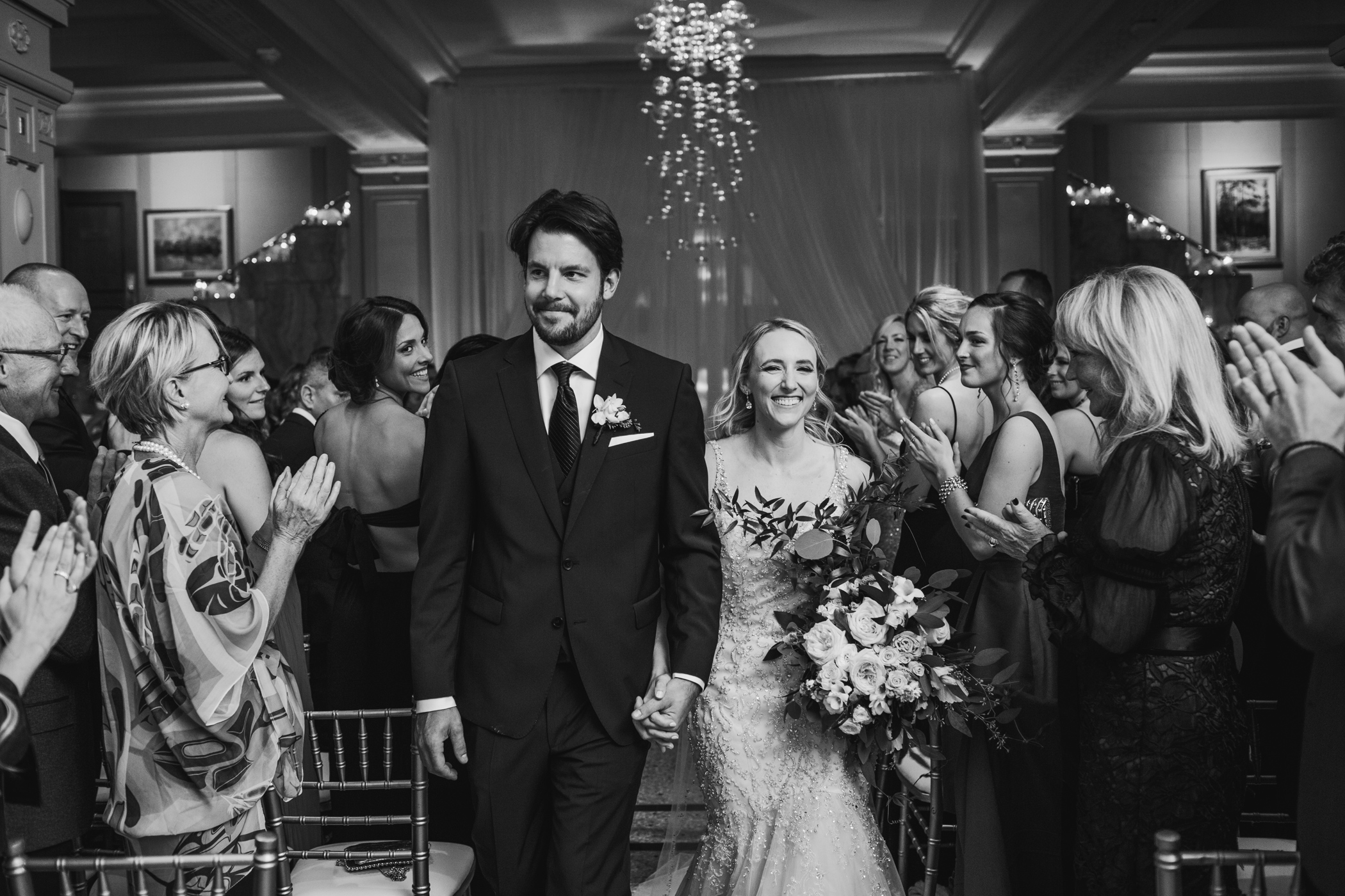 Recessional in the lobby of the Vancouver Club