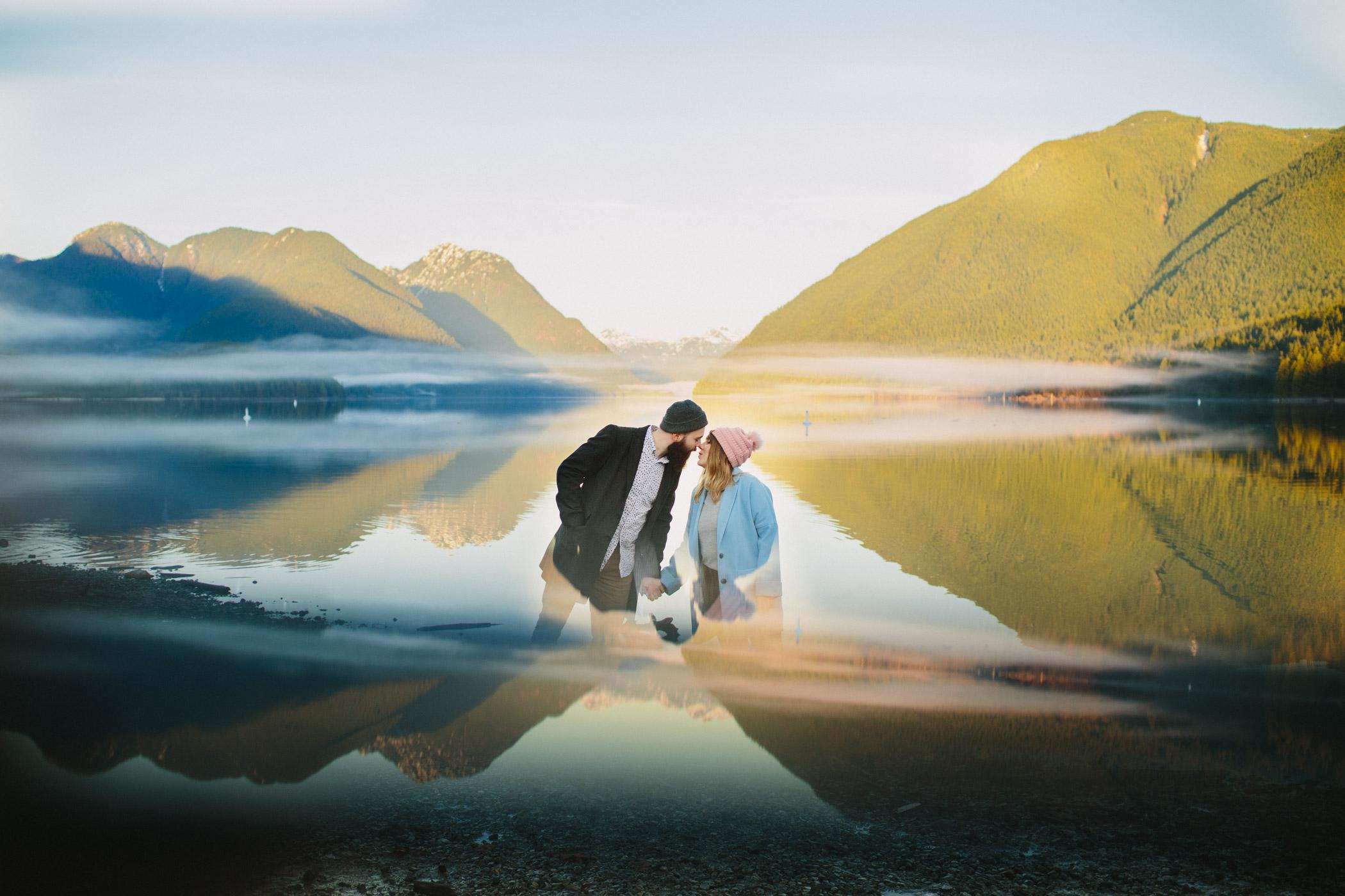 Alouette Lake Engagement Portrait