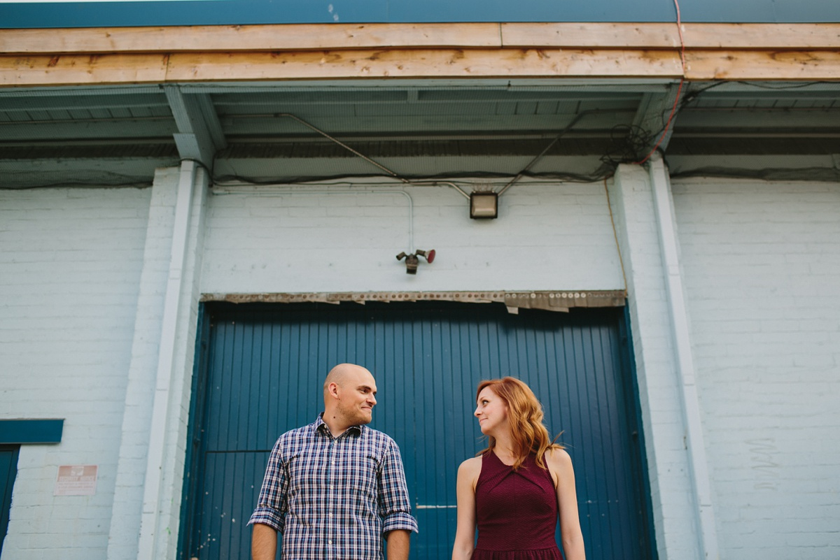 Vancouver Pre Wedding Portraits in Industrial Area