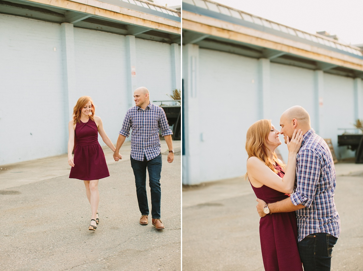 Pre Wedding Portraits in Vancouver's Warehouse District