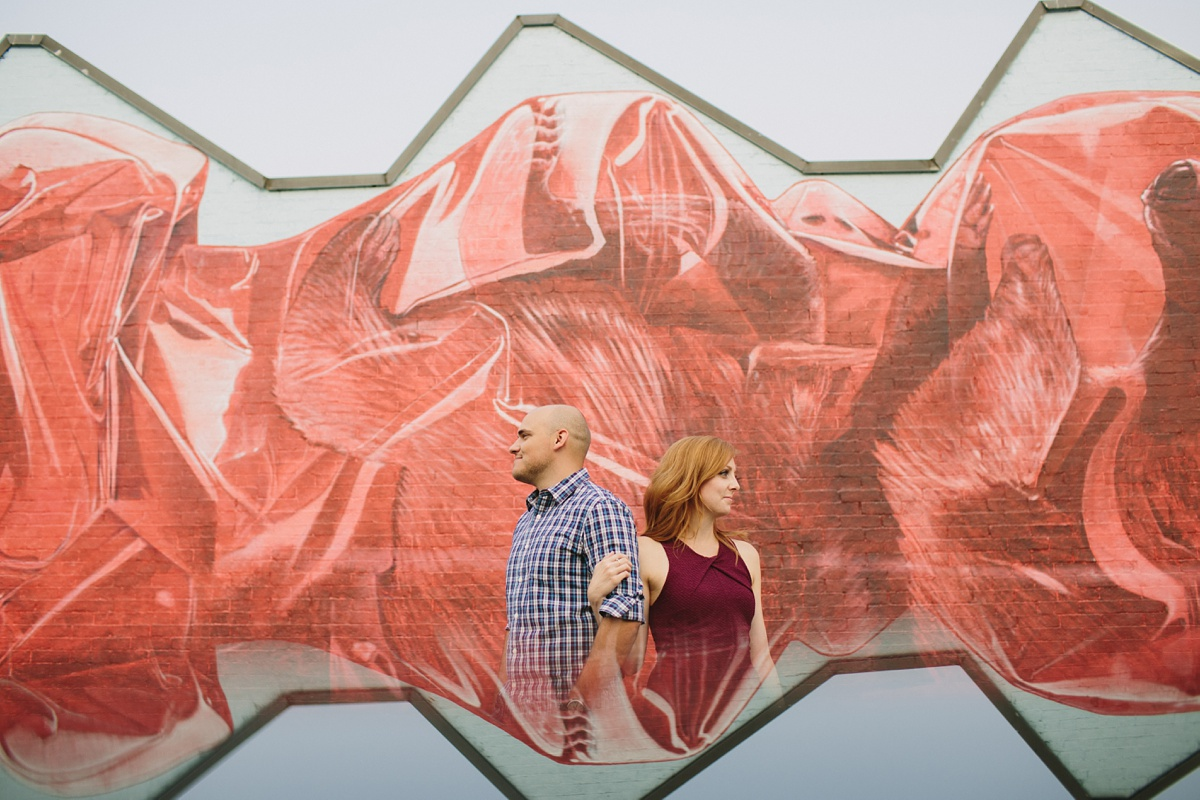 Reflection Photo with Vancouver Mural Festival Backdrop