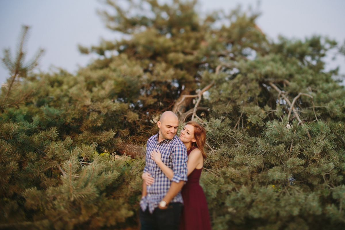 Tilt Shift Engagement Portrait at Vanier Park