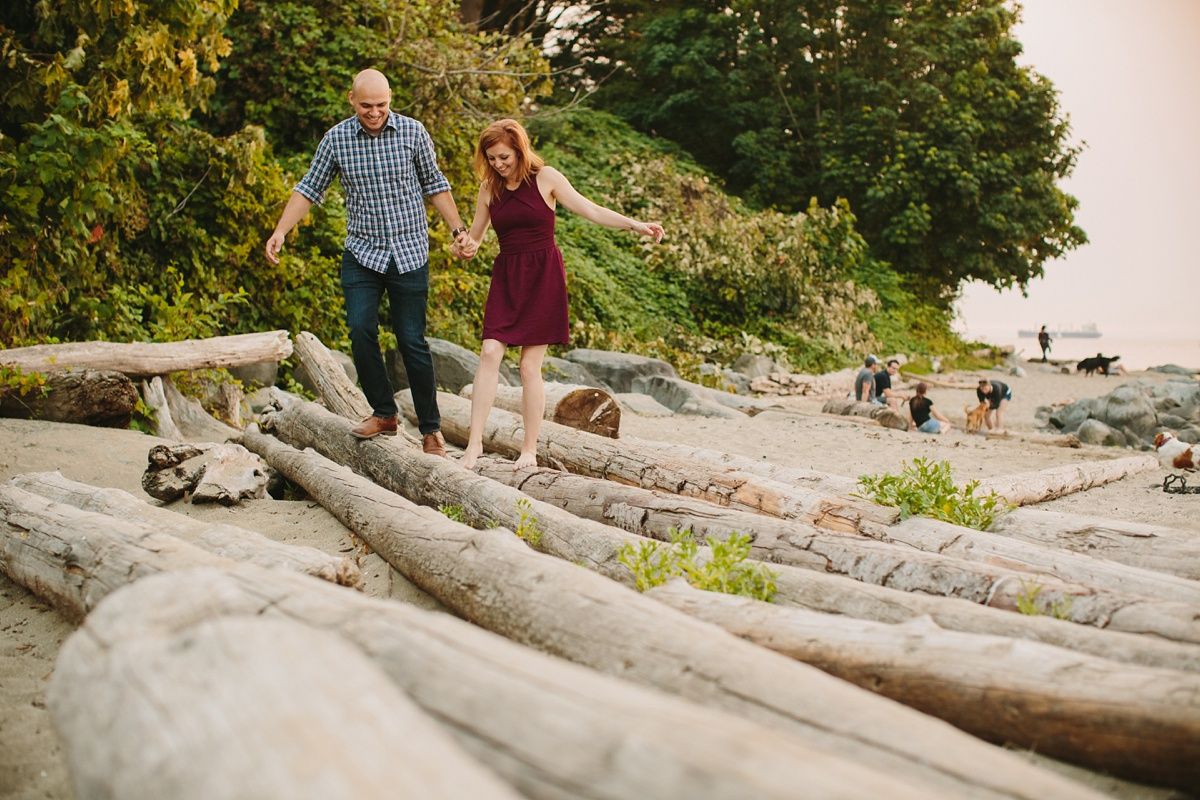 Engagement at Troll Beach in Vancouver