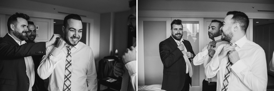 Vancouver Groom Getting Ready with Groomsmen