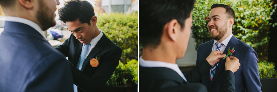 Science World Wedding Boutonniere Going On