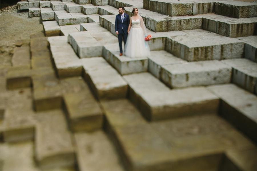 Olympic Village Tilt Shift Wedding Portrait