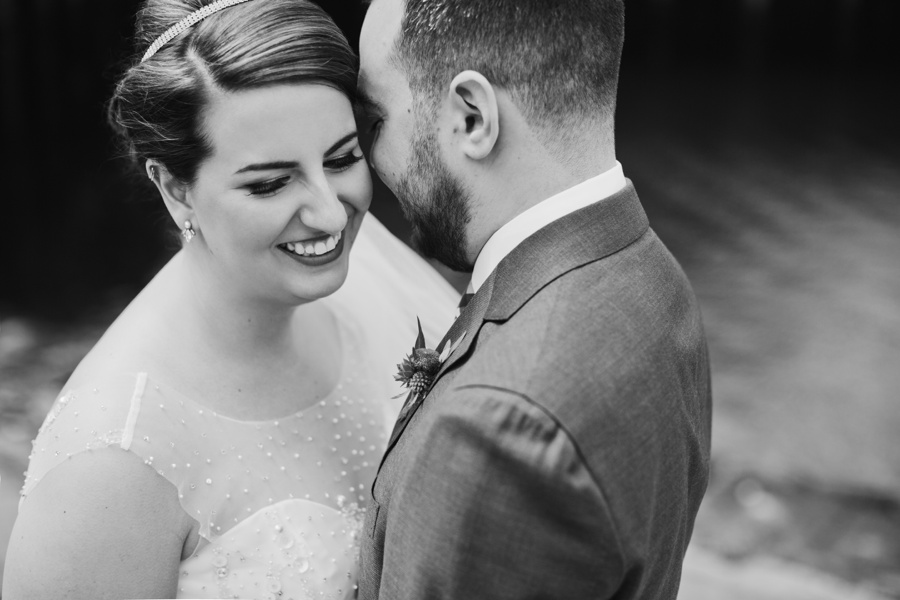 Black and White Portrait of Vancouver Bride and Groom