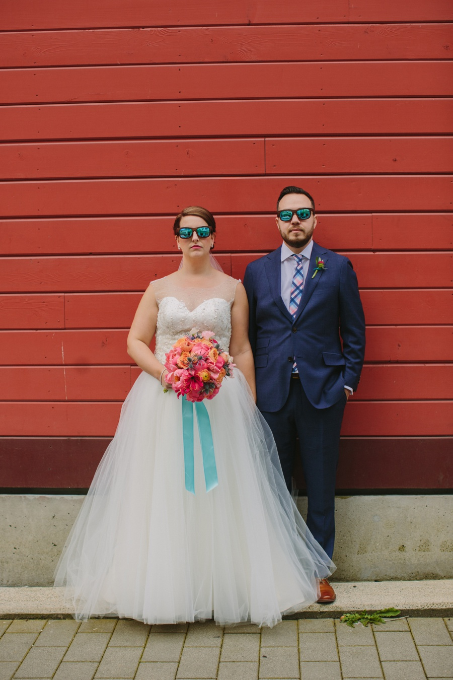 Vancouver Bride and Groom with Sunglasses
