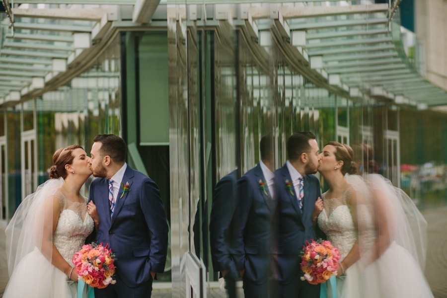 Vancouver Wedding Portrait with Reflection