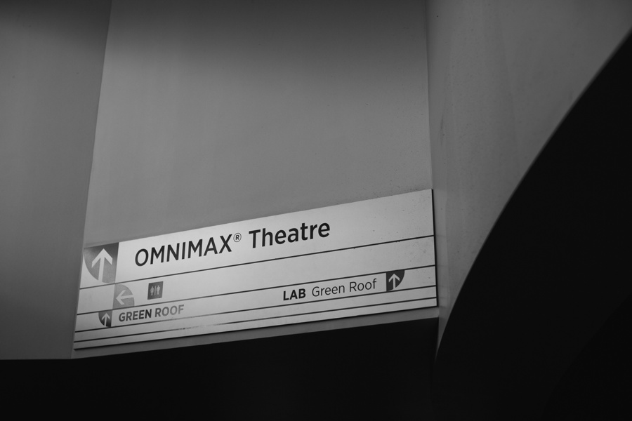 Sign for the Omnimax at Science World Vancouver