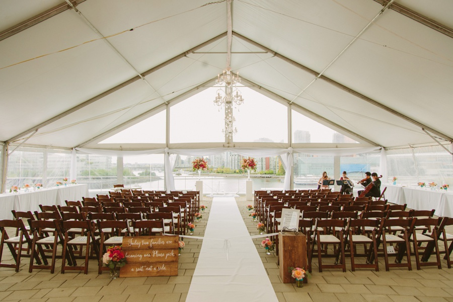 Wedding on the roof at Science World in Vancouver