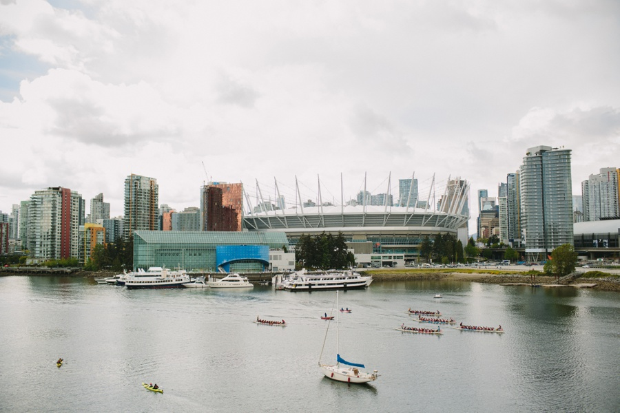 View of False Creek from Science World Roof
