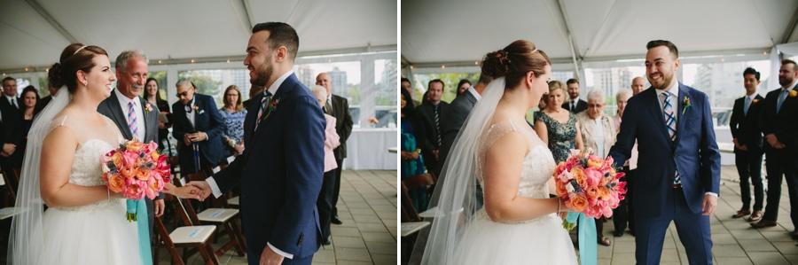 Bride and Groom Science World Wedding