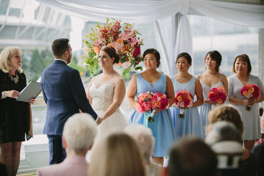 Vancouver Bride and Bridesmaids during Ceremony