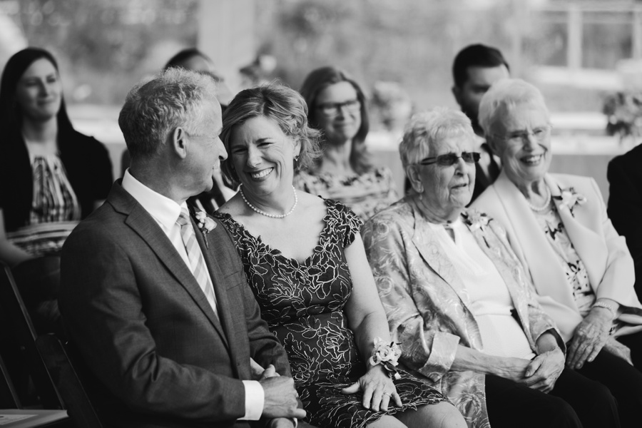 Candid of Guests during Vancouver Wedding Ceremony