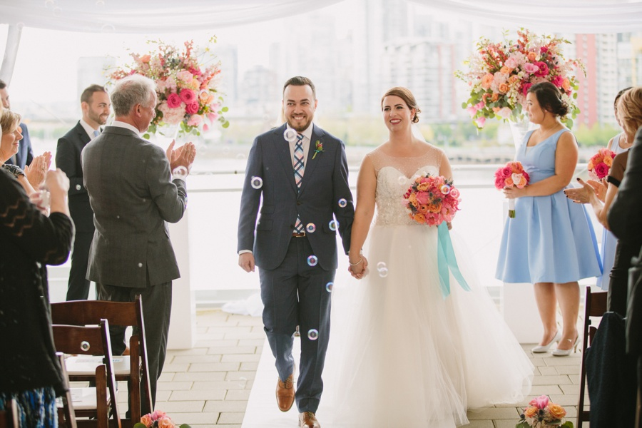 Recessional at Science World Wedding Ceremony