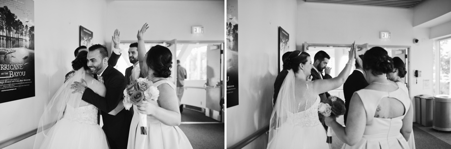 Congratulations after Vancouver Wedding